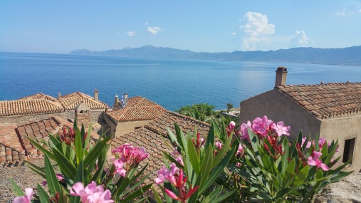 Beautiful Monemvasia in the South of the Peloponnese