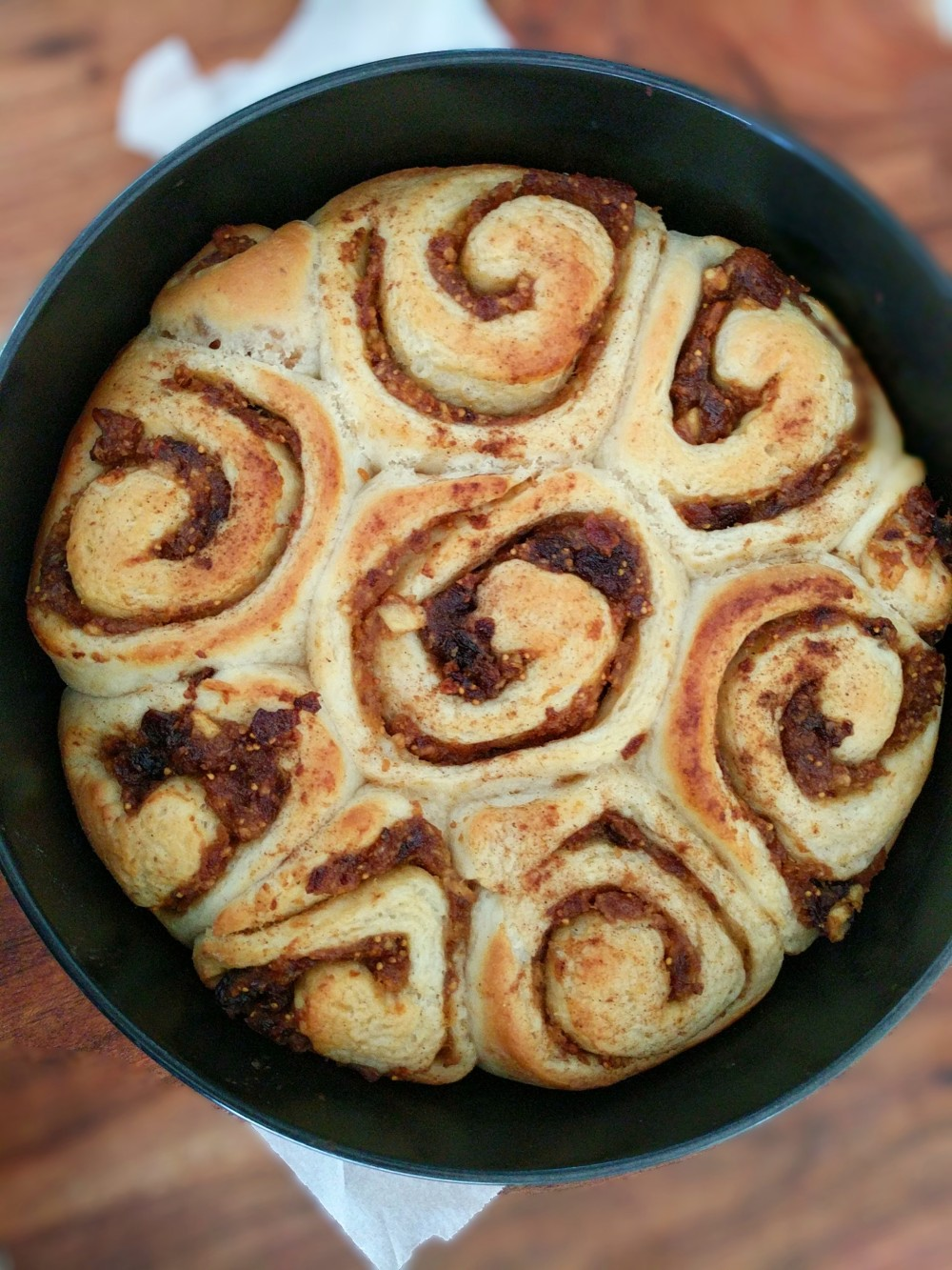Cinnamon and fig Scroll